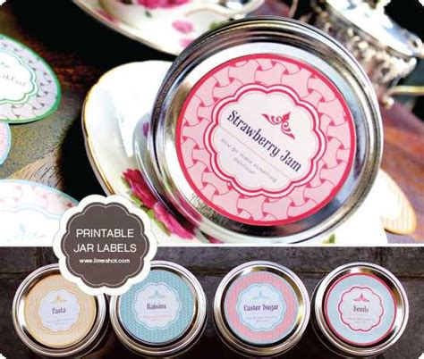 printable mason jar labels passion  savings