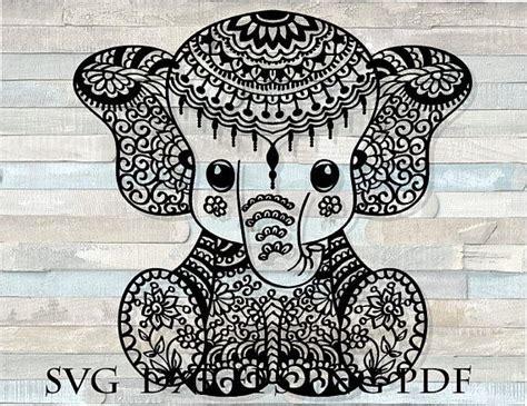 Mandala elephant svg elephant svg mandala baby elephant svg mandala elephant floral svg eps dxf png cricut silhouette toponesvg. Pin on Dotting Templets