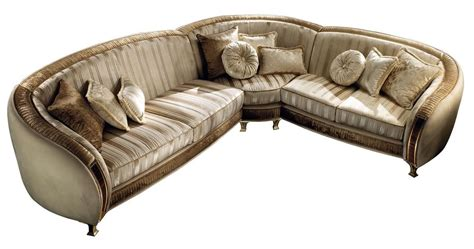 Modularl Sofa Covered In Velvet, With Hand-made Inlay