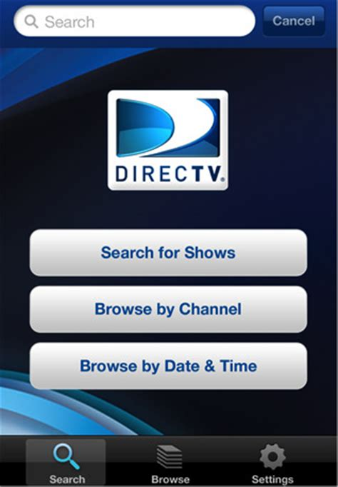 directv app for iphone directv iphone application goes live on appstore intomobile