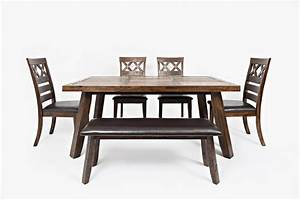Tuscarora table with four chairs and bench ruby gordon for Ruby gordon furniture