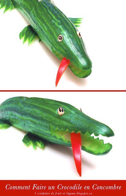 comment cuisiner un concombre 1 sculpture de fruit et légume comment faire un crocodile en concombre apéros buffets