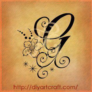 tatuaggi lettere m g lettera g anemone tattoos tattoos tribal