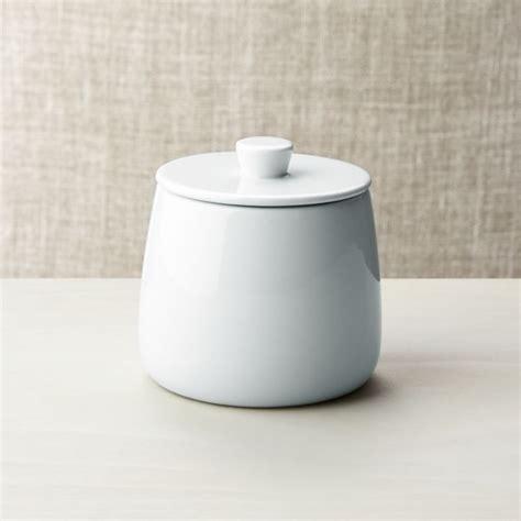 Basic White Sugar Bowl   Crate and Barrel