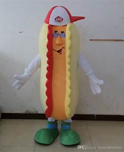 NEW Adult Dairy Queen Mascot Costume Hot Dog Mascot Dairy Dog Beds and Costumes