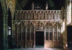 Chapelle De Kerfons Lannion Brittany France Rood Screen