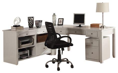 farmhouse l shaped desk boca 3 piece l shaped desk and credenza cottage white