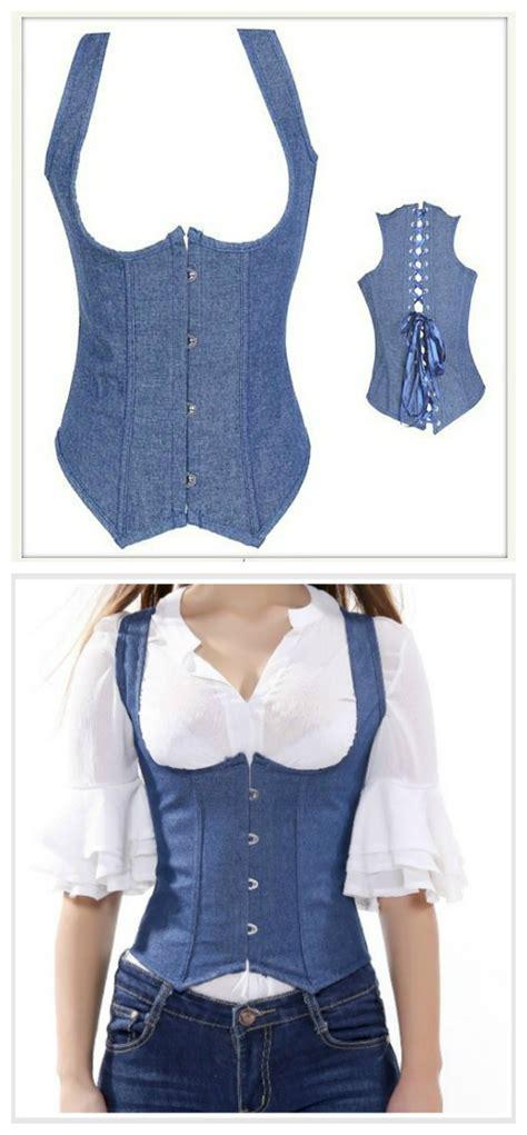 underbust   bust blue lace  western corset