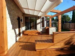 recouvrement de patio bois excel With revetement de patio exterieur