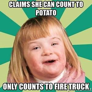 Claims she can count to potato only counts to fire truck ...