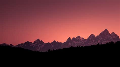 wallpaper sunset grand teton national park mountains