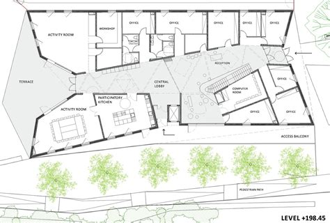 design plans gallery of community centre in billère bandapar