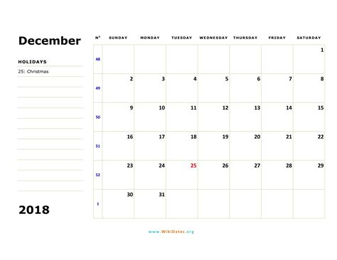 december  calendar wikidatesorg