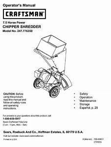 Craftsman 247 776350 Operator U0026 39 S Manual Pdf Download