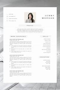 Simple Cv Template Word Resume With Photo Template Resume