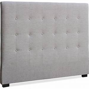 Tete De Lit Tissu : t te de lit capitonn e tissu beige 140 luxa ~ Premium-room.com Idées de Décoration
