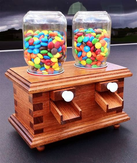 candy dispenser mahogany woodworks   woodworking