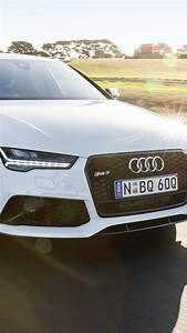 壁纸 奥迪RS7白色小车速度 3840x2160 UHD 4K 高清壁纸, 图片, 照片