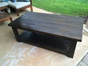 DIY Rustic X Coffee Table (Plans by Ana White) - Handmade