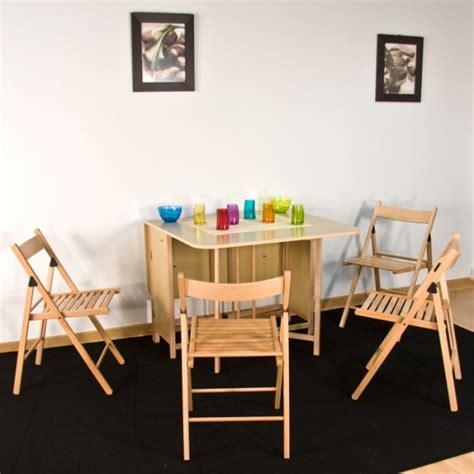 table pliante avec chaises intégrées table console avec chaise