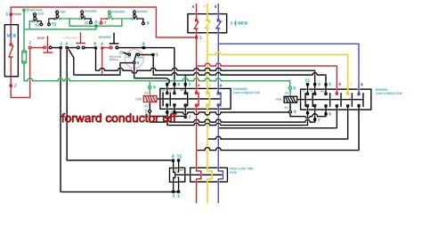delta starter circuit diagram motor