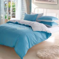 bedding set 4pcs 100 cotton solid color queen king comforter bedding sets luxury bicolor bed