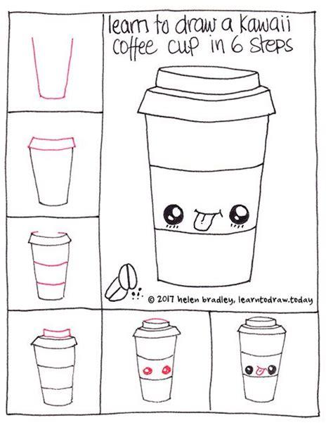 How to draw rainbow smoothie cute drink #kawaii. How to draw a cute coffee in six steps | Drinken tekenen, Easy drawing tutorial, Kawaii tekeningen