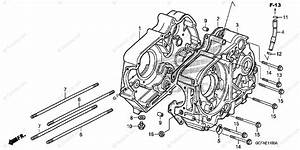 Honda Motorcycle 2004 Oem Parts Diagram For Crankcase