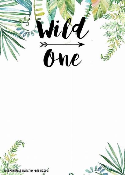 Wild Birthday Invitation Printable Templates Invitations Drevio