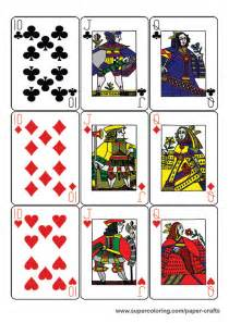 guyenne classic deck  playing cards printable template