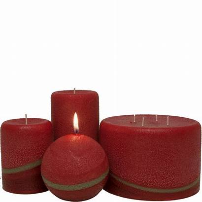Candles Scented Pillar Pomegranate Ginger Candle Orange