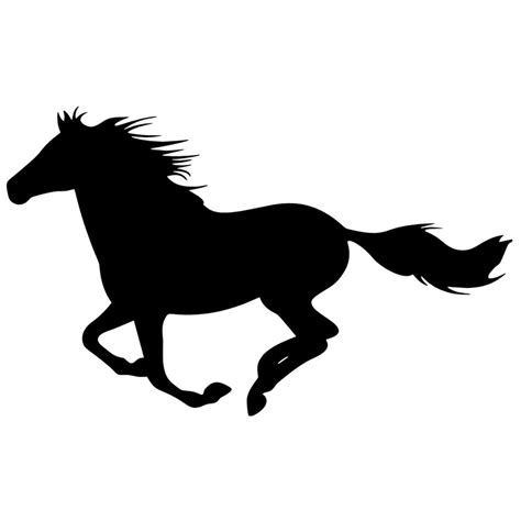 mustang horse silhouette running horse silhouette decal top pet gifts