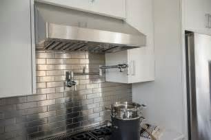 stainless steel kitchen backsplashes pictures of the hgtv smart home 2015 kitchen hgtv smart home sweepstakes hgtv