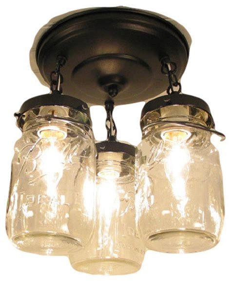 vintage jar ceiling light trio rubbed bronze