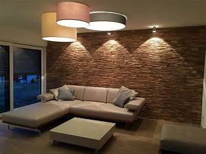Wohnzimmer Holz Modern : holz wandverkleidung modern braun grau bs holzdesign ~ Orissabook.com Haus und Dekorationen