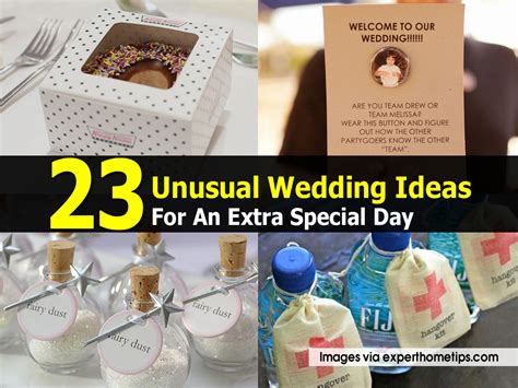 ideas for 23 unusual wedding ideas for an extra special day