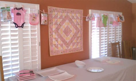 tables chairs pink linens baby shower royalty rentals