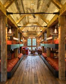 spectacular bunk room plans bunk house with rustic interiors home bunch interior