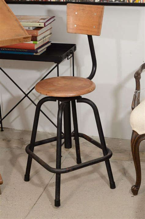antique wood drafting table and stool at 1stdibs