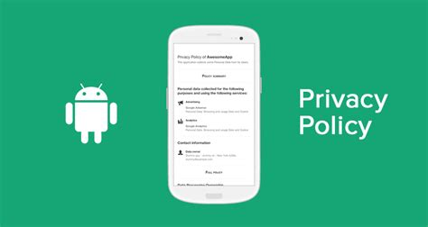 Privacy Policy For Android Apps Template Guide