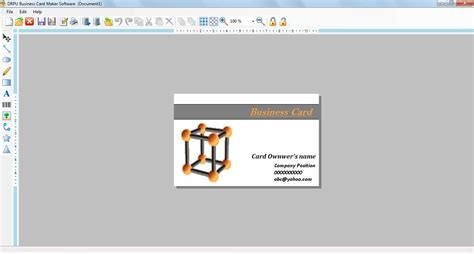 business card maker software create visiting membership