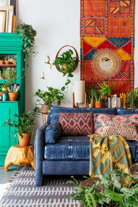 78+ Comfy Modern Bohemian Living Room Decor and Furniture ...
