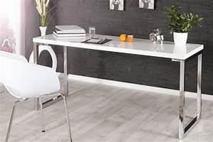 Design Schreibtisch Weiß : design schreibtisch white desk 140cm hochglanz weiss riess ambiente onlineshop ~ Heinz-duthel.com Haus und Dekorationen