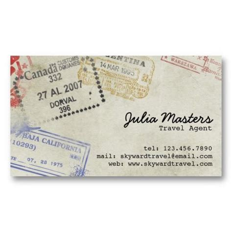 Travel Contact Card Template by 16 Best Travel Business Cards Images On