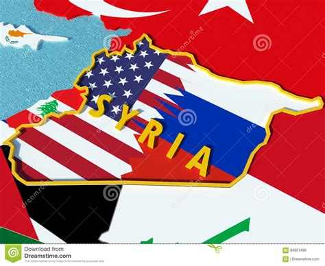 Usa And Russia Conflict Over Situation In Syria 3d
