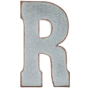 silver galvanized vintage metal letter marquee  industrial style ebay