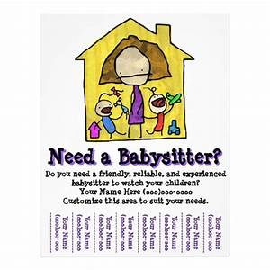 512px With babysitting poster template