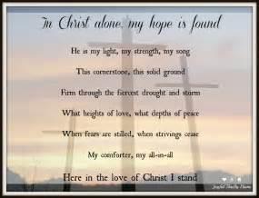 In Christ Alone My Hope Is Found Lyrics