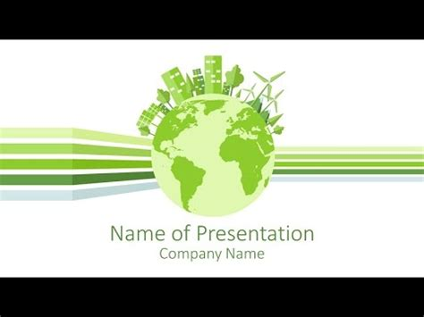 sustainability powerpoint template youtube
