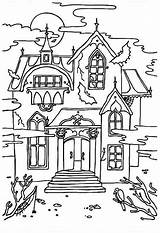 Haunted Coloring Pages Sheets Printable sketch template